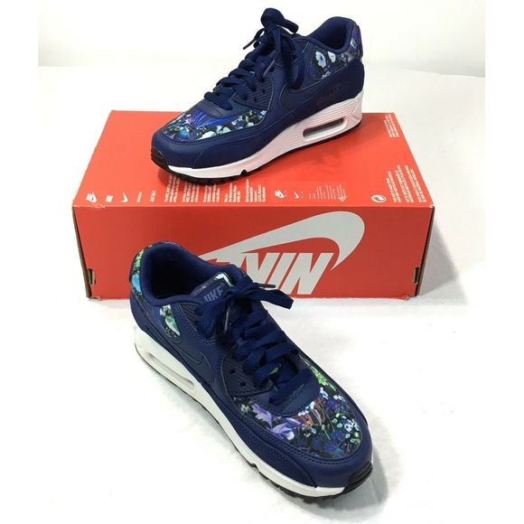 Nike Air Max 90 SE Floral Athletic Sneakers Shoes